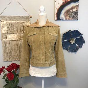 J.Crew Vintage corduroy cropped bomber jacket